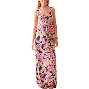 Lilly Pulitzer Villa V-Neck Printed Maxi Dress